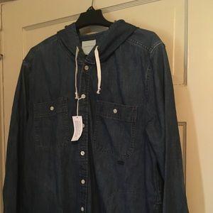 NWT American Eagle Jean Coat Jacket XXL/TTG
